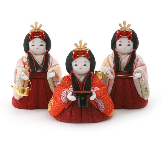 三人官女 花丸紋