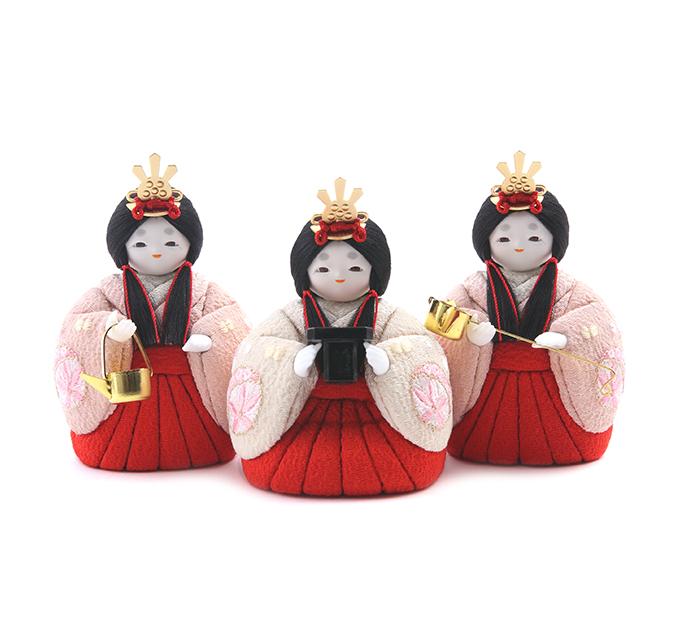 三人官女 京刺繍・まりに小梅