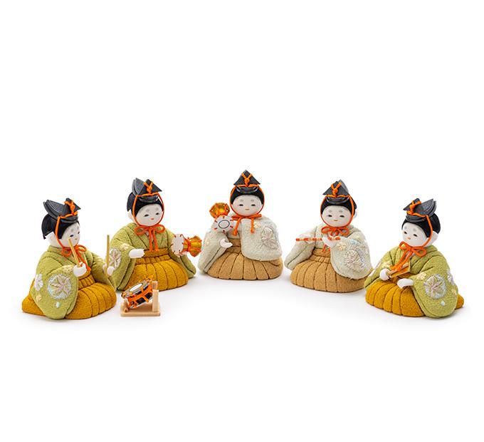 五人囃子 京刺繍・まりに小梅