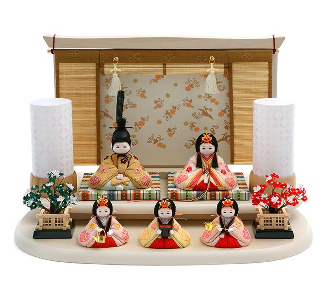 まいまい 京刺繍・葵に花・桜色