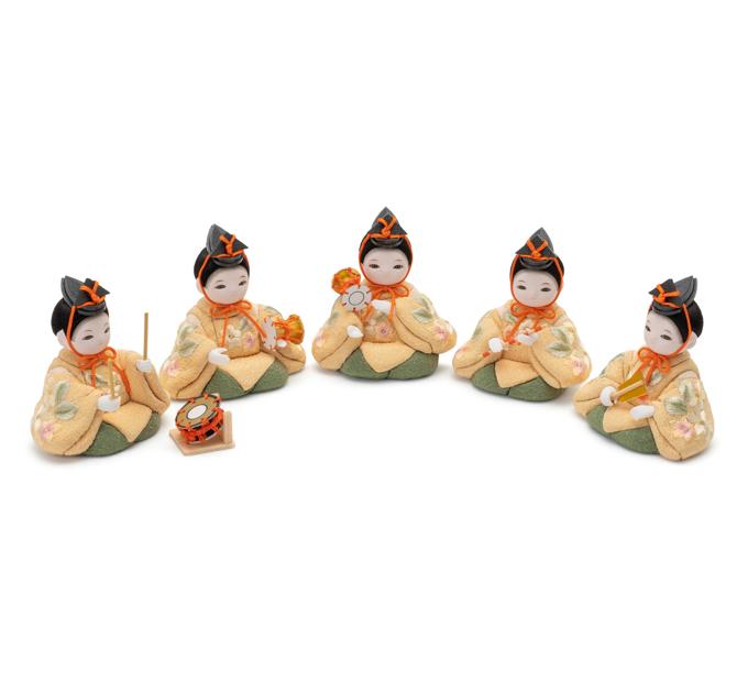 五人囃子 京刺繍・桜色
