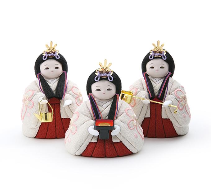 三人官女 京刺繍・花結び