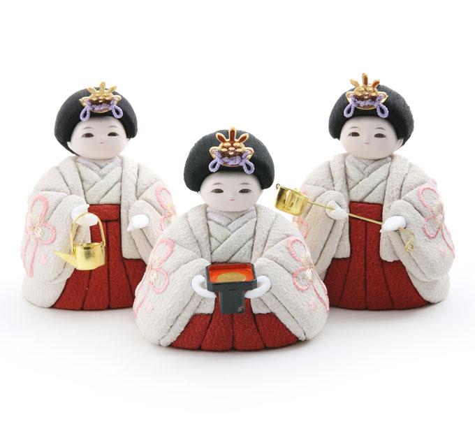 三人官女 京刺繍・春結び