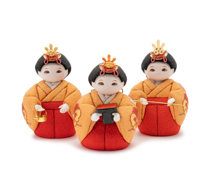 三人官女 花の苑・桃色