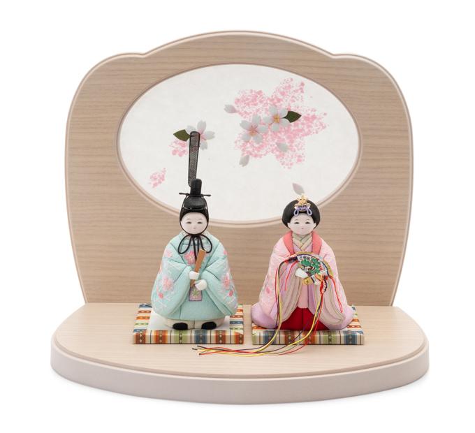 さらさら 立雛 京刺繍・花の音・桜花