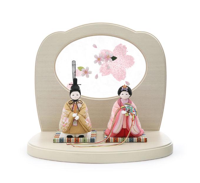 さらさら 立雛 京刺繍・花の音・桃桜
