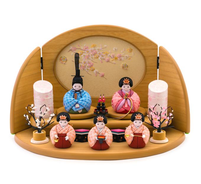 うらうら 京刺繍・花に七宝・桃色(WEB限定)